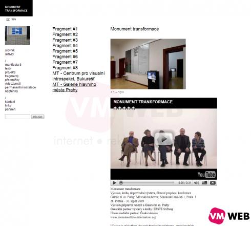 fotogalerie, připojené video