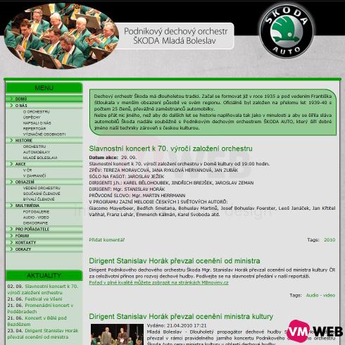 PDO Škoda homepage